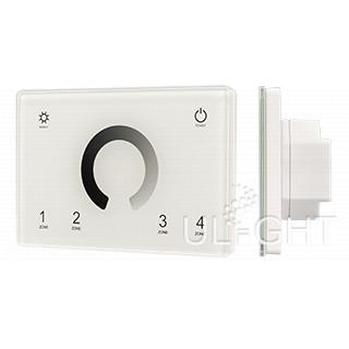 Панель Sens SMART-P79-DIM White (230V, 4 зоны, 2.4G)