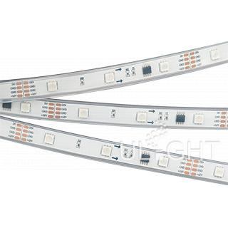 Лента SPI-5000P-AM 12V RGB (5060, 150 LED x3, 1804)