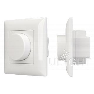 Панель SMART-P14-DIM-IN White (230V, 3A, 0-10V, Rotary, 2.4G) (ARL, IP20 Пластик, 5 лет)