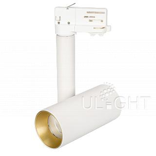 Светильник SP-POLO-TRACK-PIPE-R65-8W White5000 (WH-GD, 40 deg) (ARL, IP20 Металл, 3 года)