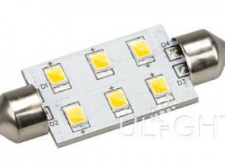 Фото №:1 Автолампа ARL-F42-6E Warm White (10-30V, 6 LED 2835)