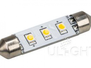 Фото №:1 Автолампа ARL-F42-3E Warm White (10-30V, 3 LED 2835)