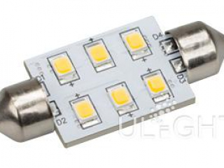 Фото №:1 Автолампа ARL-F37-6E White (10-30V, 6 LED 2835)