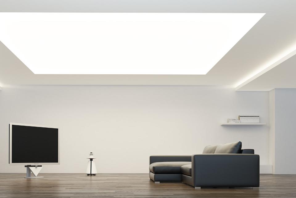 Сплошная засветка потолка