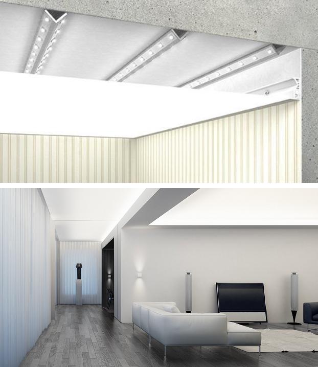 Сплошная равномерная подсветка потолка