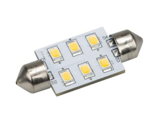 Автолампа ARL-F37-6E Warm White (10-30V, 6 LED 2835) (ANR, Открытый)