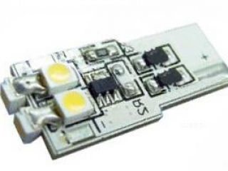 Автолампа ARL-T10-6S White (10-16V, 6 LED 3528) (ANR, Открытый)